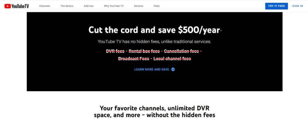Propozycja wartości Youtube.tv